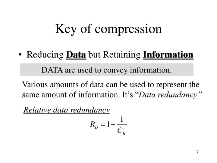 Key of compression