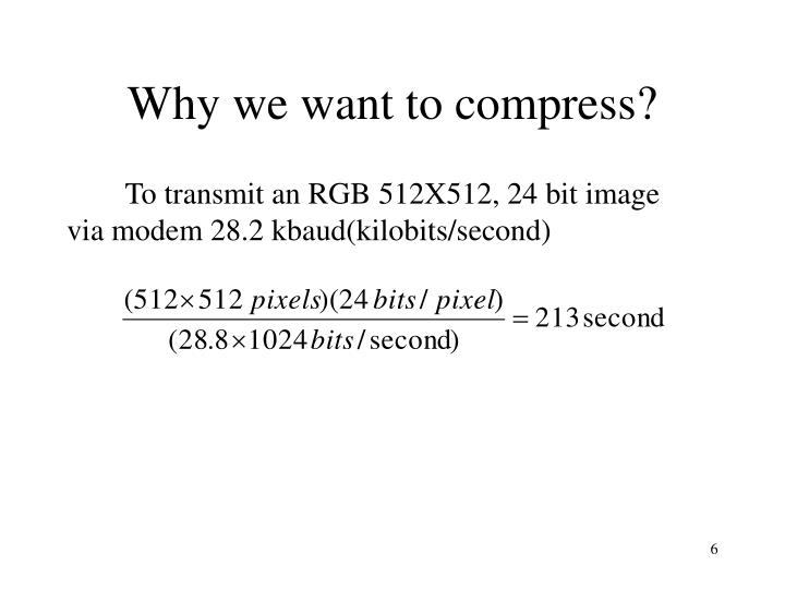 Why we want to compress?