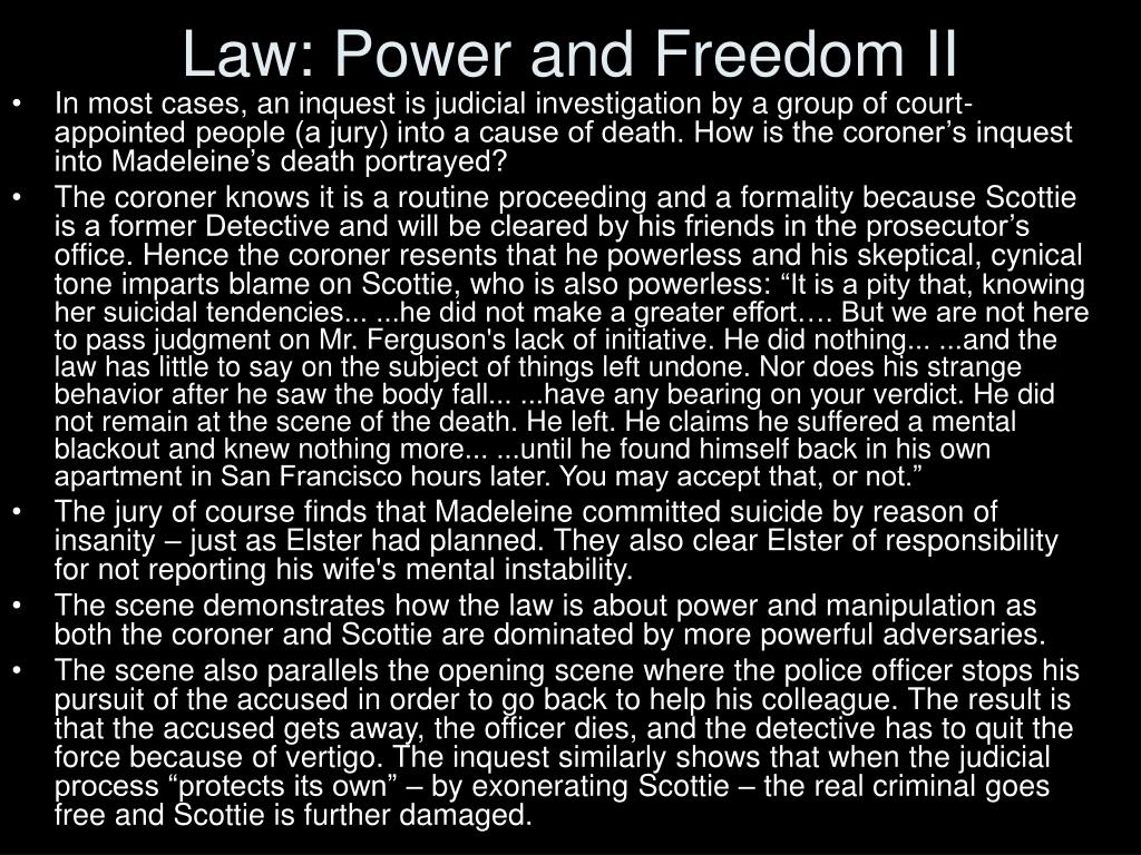 Law: Power and Freedom II