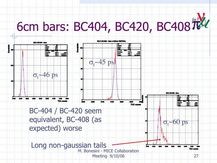 6cm bars: BC404, BC420, BC408