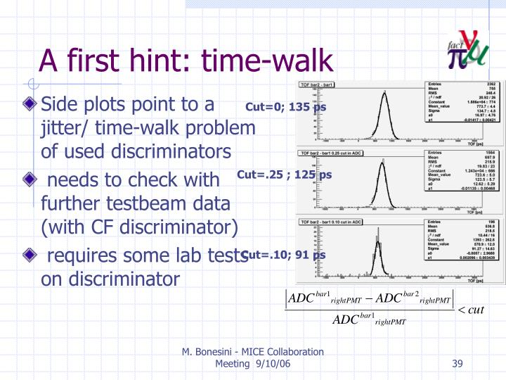 A first hint: time-walk