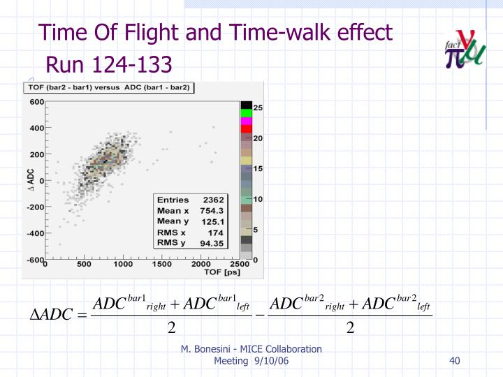 Time Of Flight and Time-walk effect