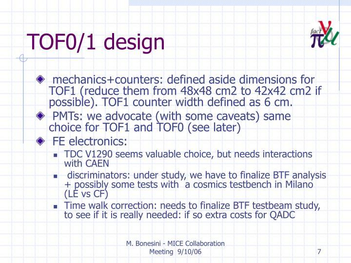 TOF0/1 design