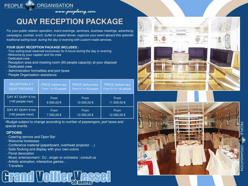 QUAY RECEPTION PACKAGE