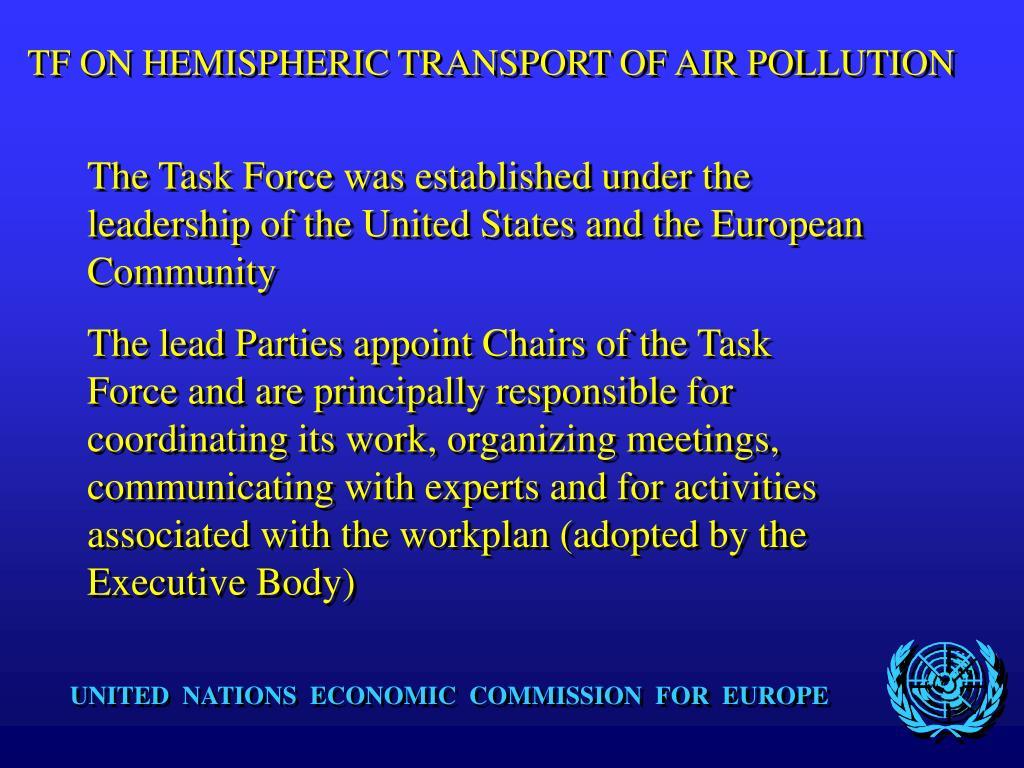 TF ON HEMISPHERIC TRANSPORT OF AIR POLLUTION