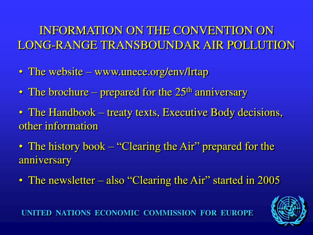 INFORMATION ON THE CONVENTION ON