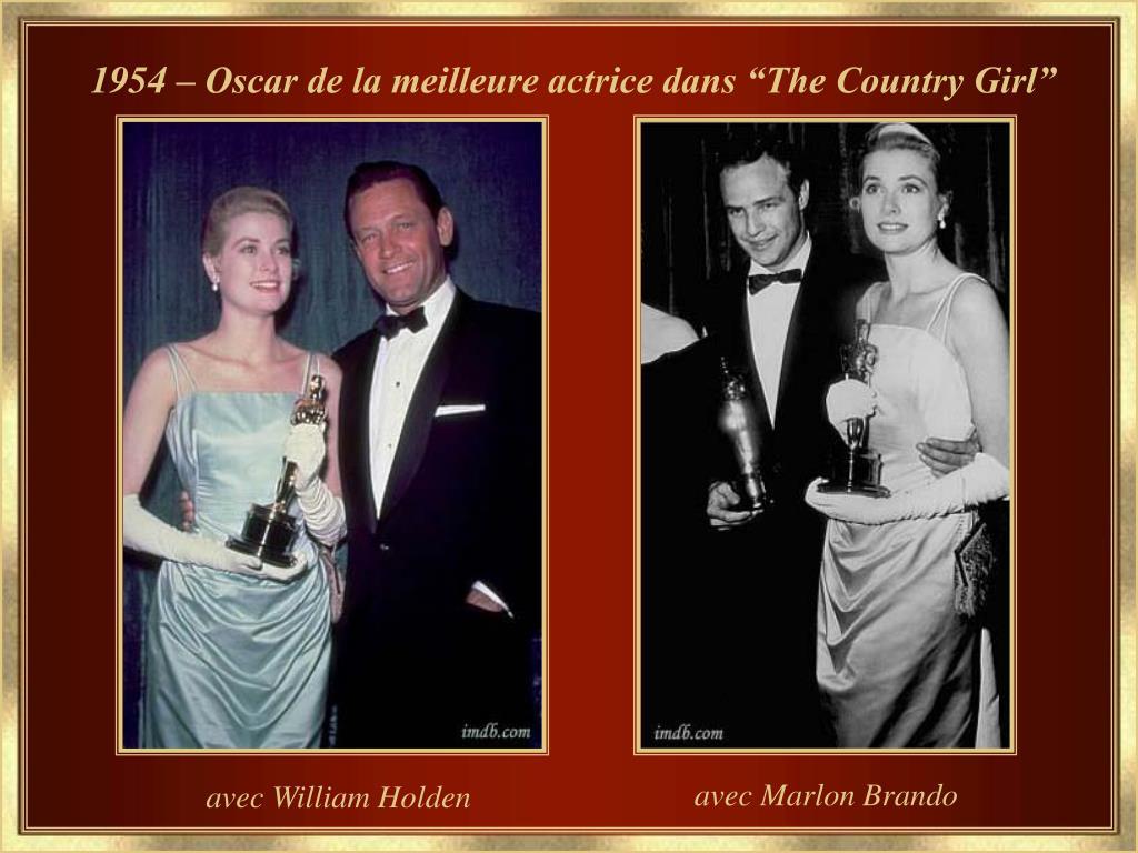 "1954 – Oscar de la meilleure actrice dans ""The Country Girl"""