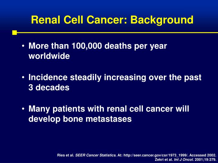 Renal cell cancer background