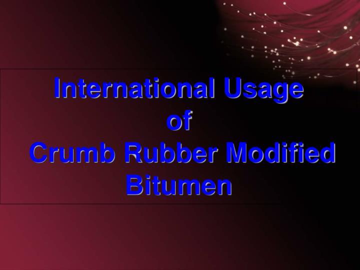 International Usage