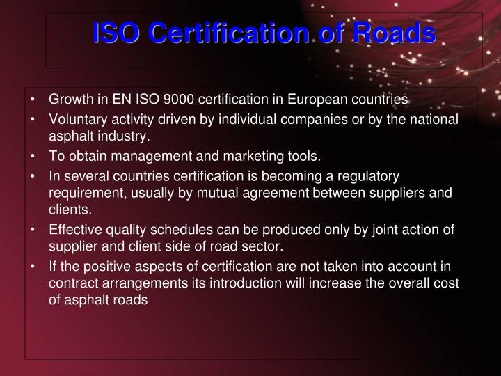 Growth in EN ISO 9000 certification in European countries