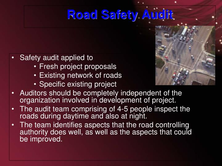 Safety audit applied to