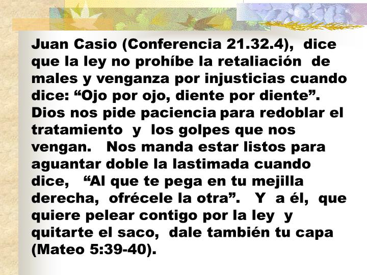 Juan Casio (Conferencia 21.32.4),