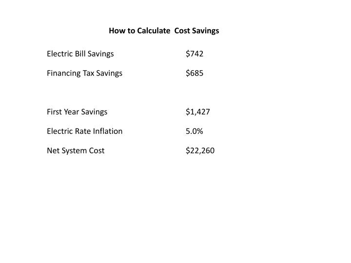 How to Calculate  Cost Savings