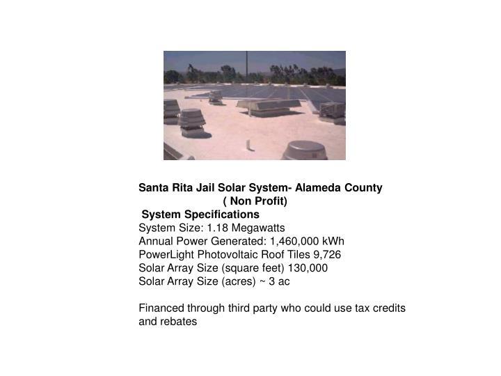 Santa Rita Jail Solar System- Alameda County