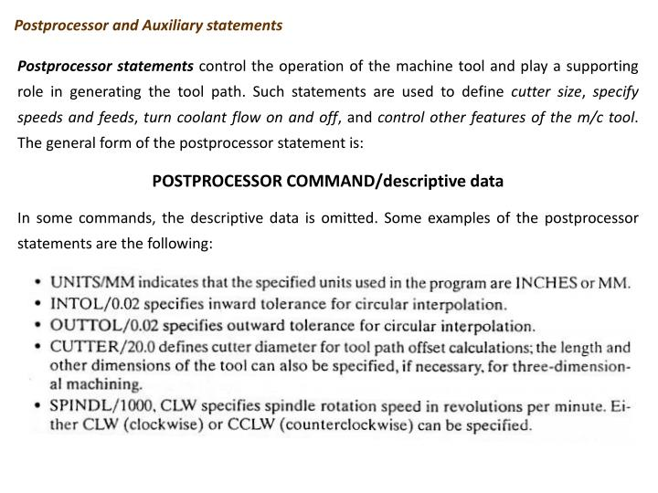 Postprocessor and Auxiliary statements