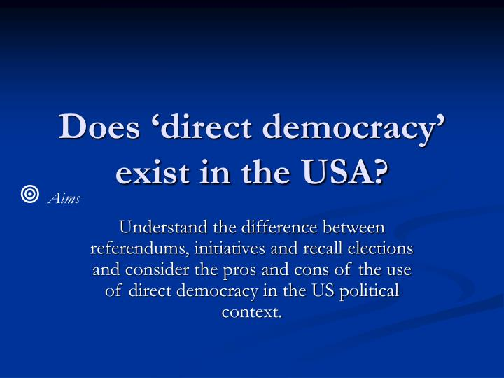 Does direct democracy exist in the usa