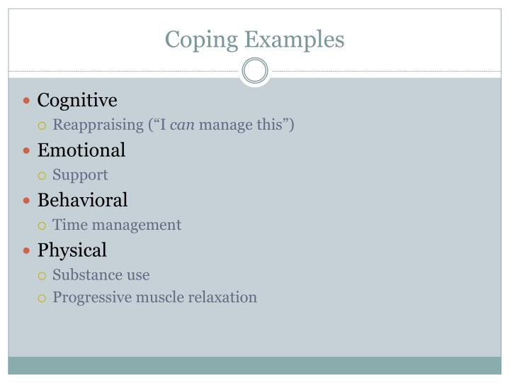 Coping Examples