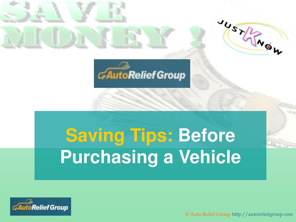 Saving Tips: