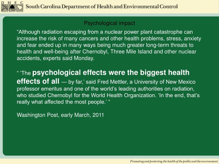 Psychological impact