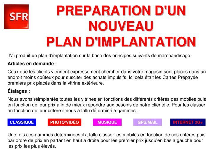 PREPARATION D'UN
