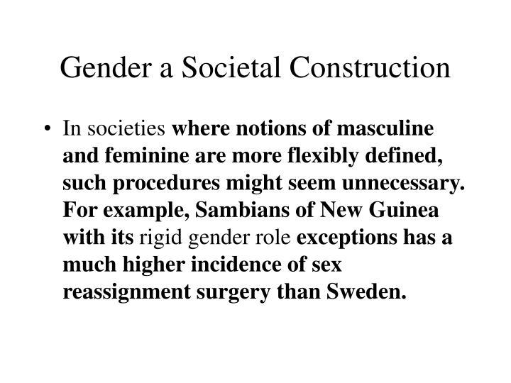 Gender a Societal Construction