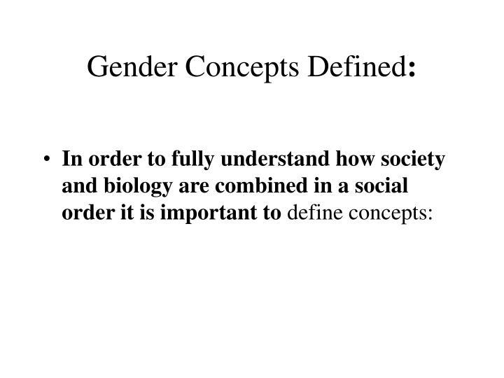 Gender Concepts Defined