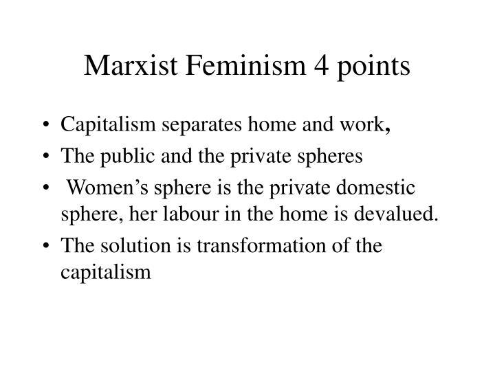 Marxist Feminism 4 points