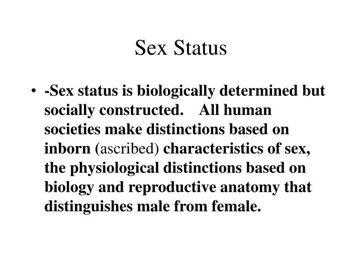 Sex Status
