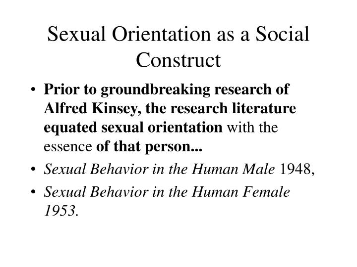 Sexual Orientation as a Social Construct
