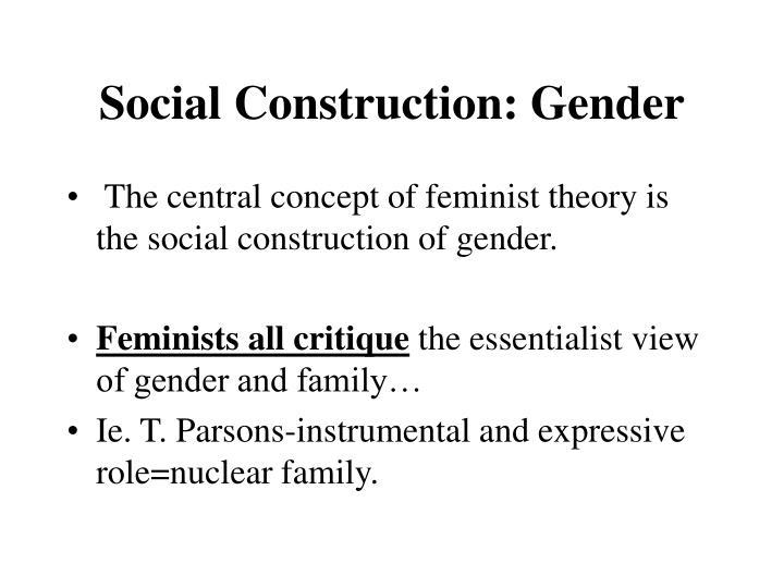 Social Construction: Gender