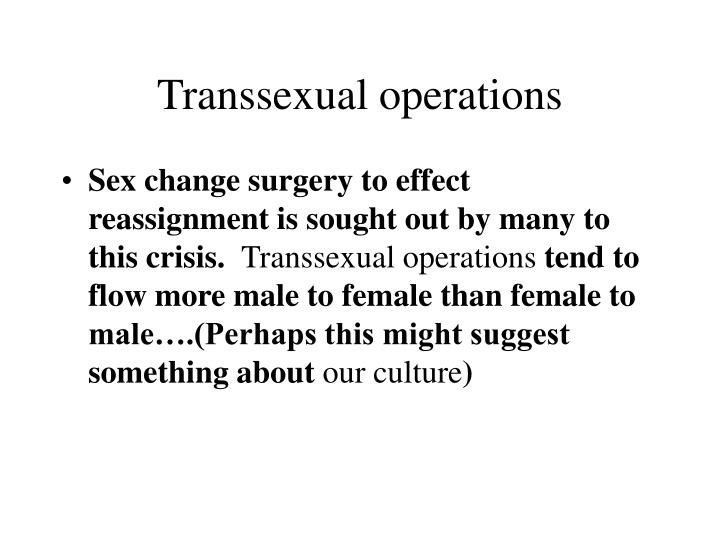 Transsexual operations