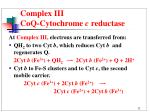 complex iii coq cytochrome c reductase