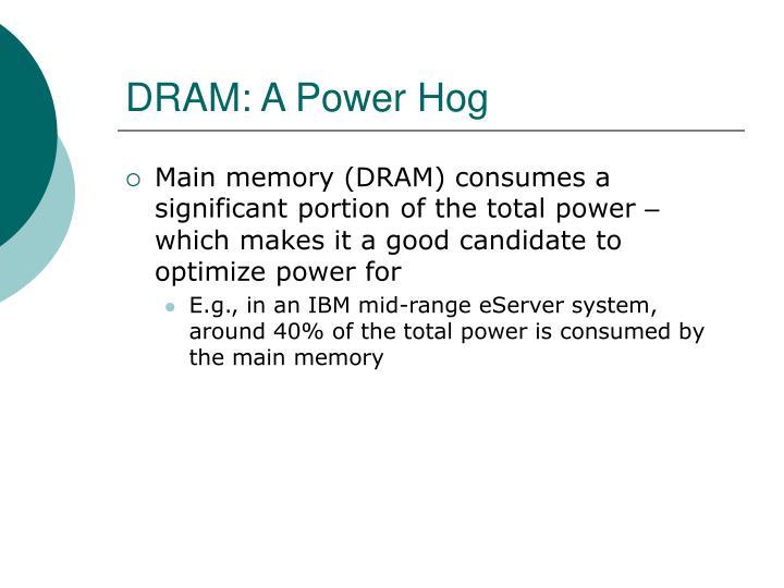 DRAM: A Power Hog