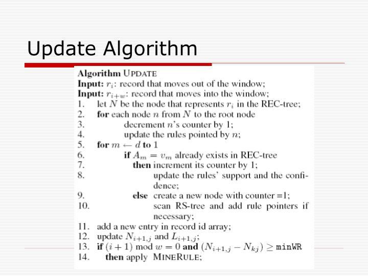 Update Algorithm