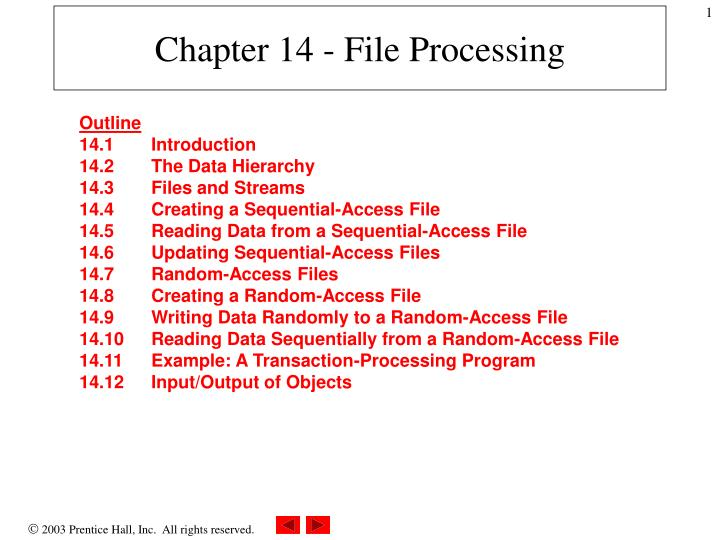 chapter 14 file processing