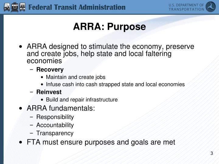 Arra purpose