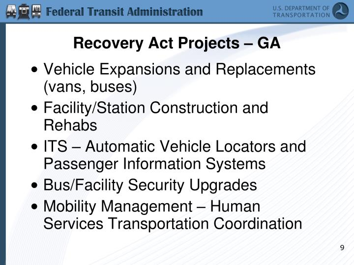 Recovery Act Projects – GA