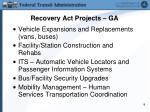 recovery act projects ga