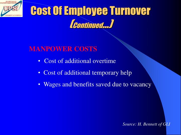 Cost Of Employee Turnover