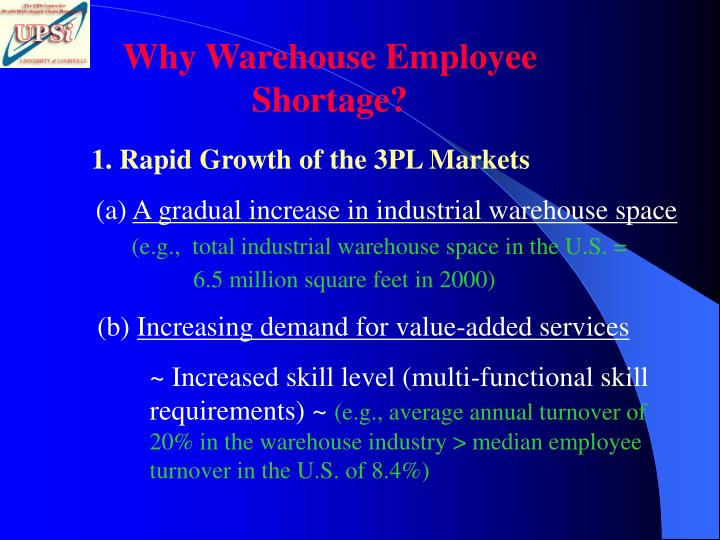 Why Warehouse Employee Shortage?
