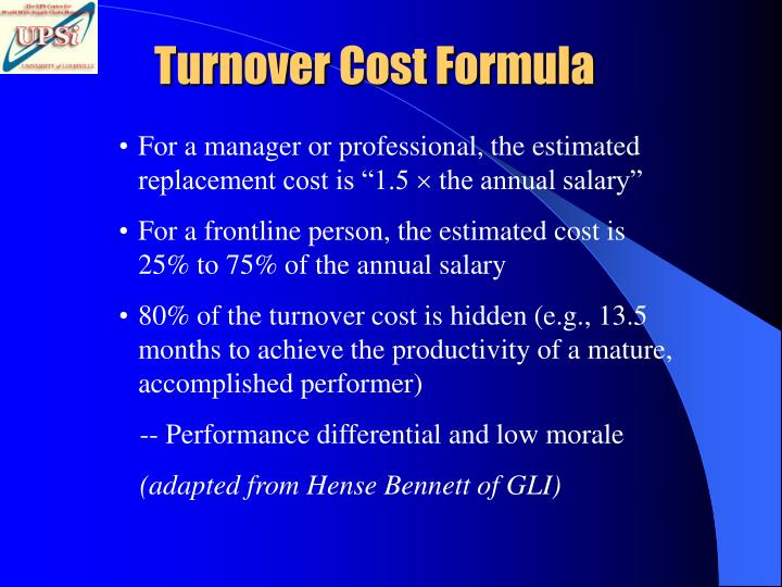 Turnover Cost Formula