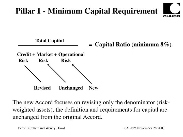 Pillar 1 - Minimum Capital Requirement