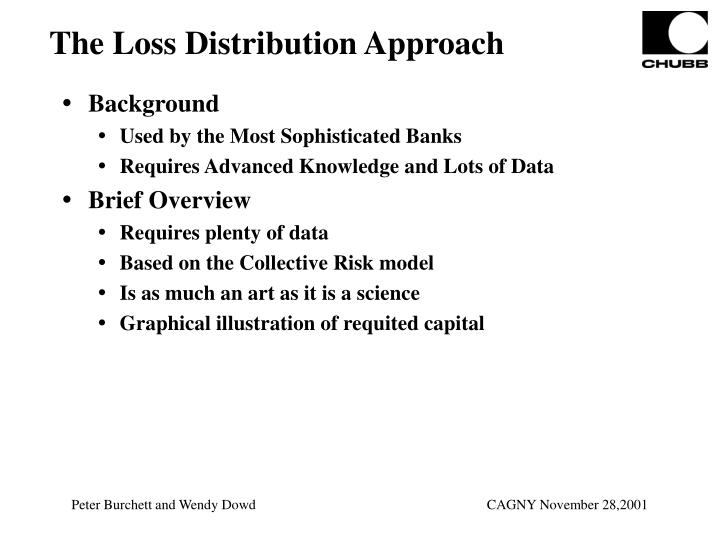 The Loss Distribution Approach