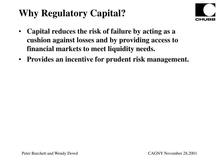 Why Regulatory Capital?