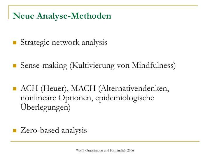 Neue Analyse-Methoden