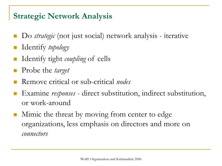 Strategic Network Analysis