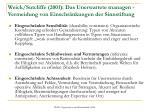 weick sutcliffe 2001 das unerwartete managen vermeidung von einschr nkungen der sinnstiftung