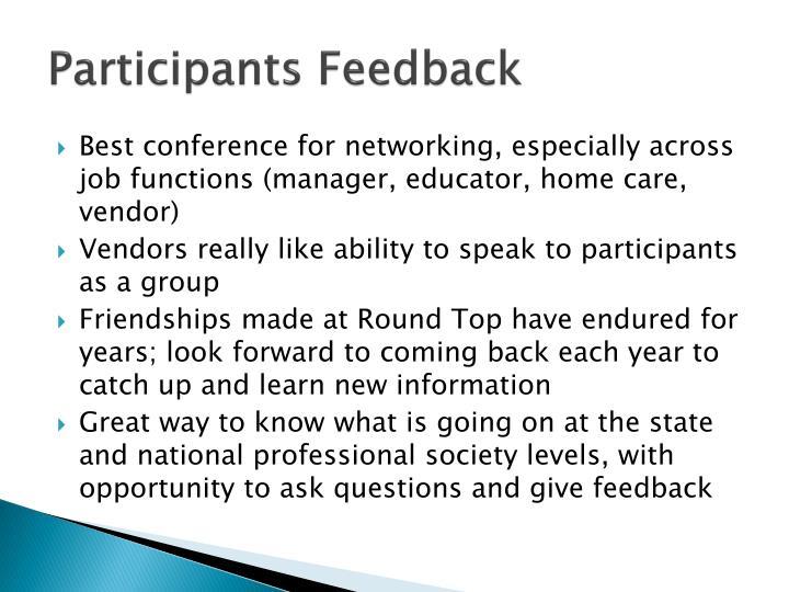 Participants Feedback