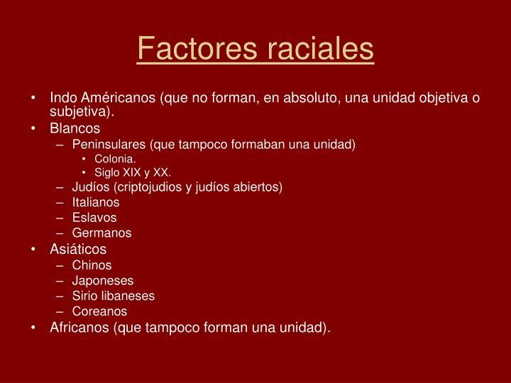 Factores raciales