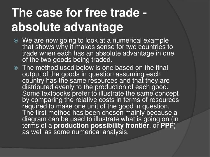 The case for free trade -